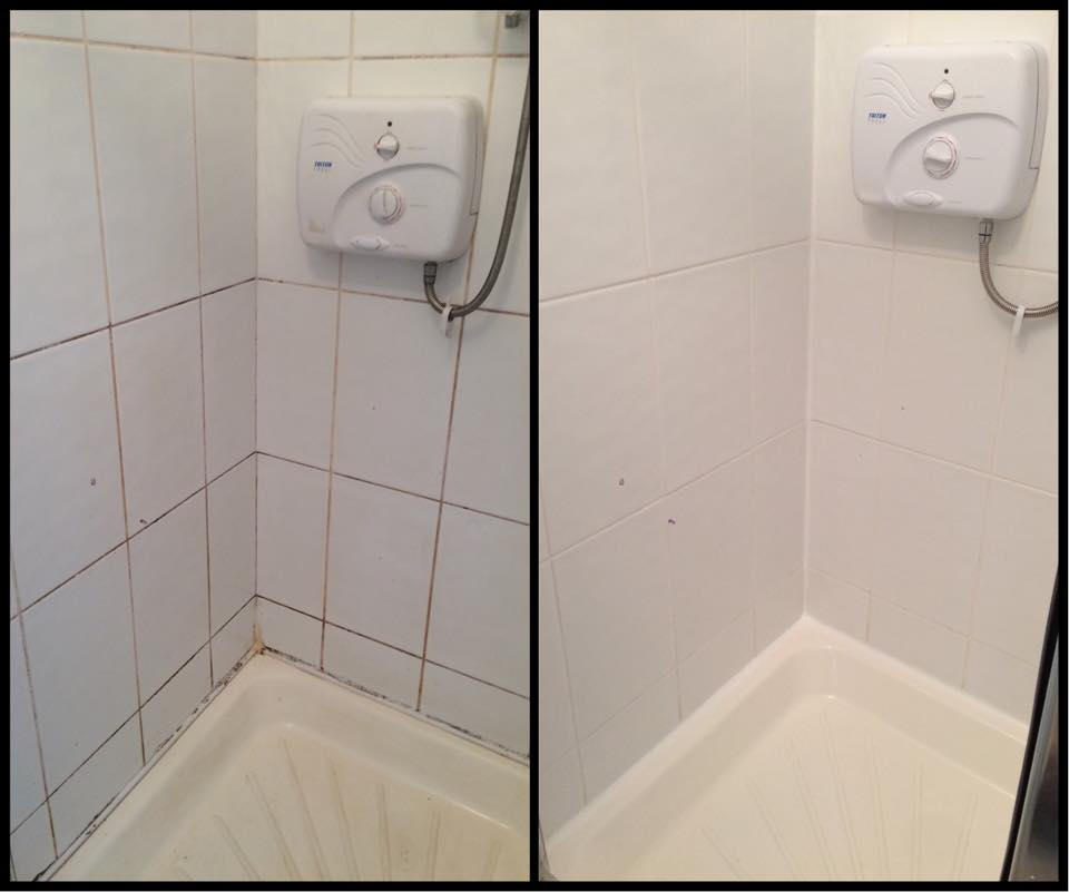 Tile Cleaning, Restore, New Shower Seal And Shower Enclosure Part 59