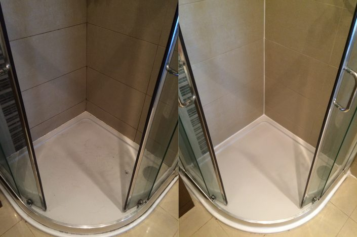 FOR NEWER SHOWER AREA WHEN TILE GROUT IS NOT CRACKED OR DAMAGED